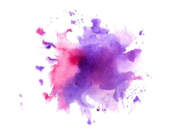 紫色の汚れの水彩画の背景。