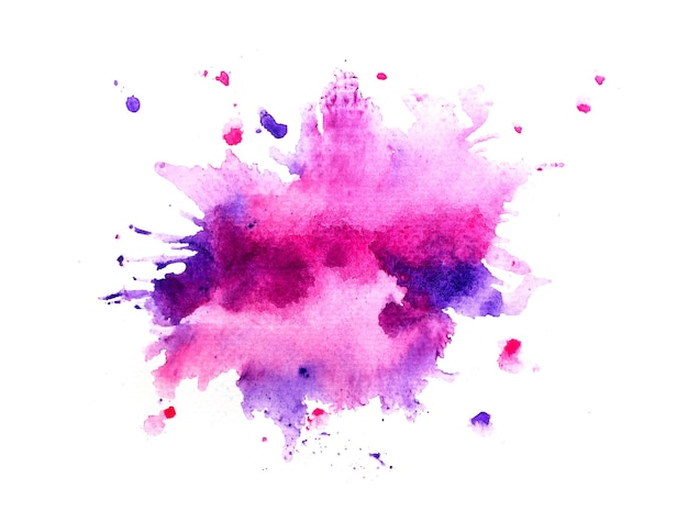 Purple stain watercolor background.