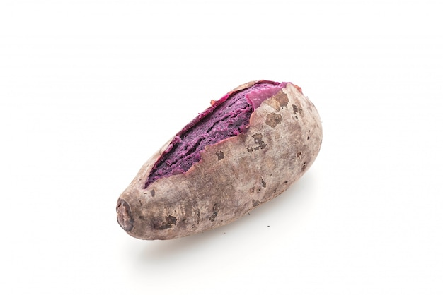 Purple sweet potato isolated