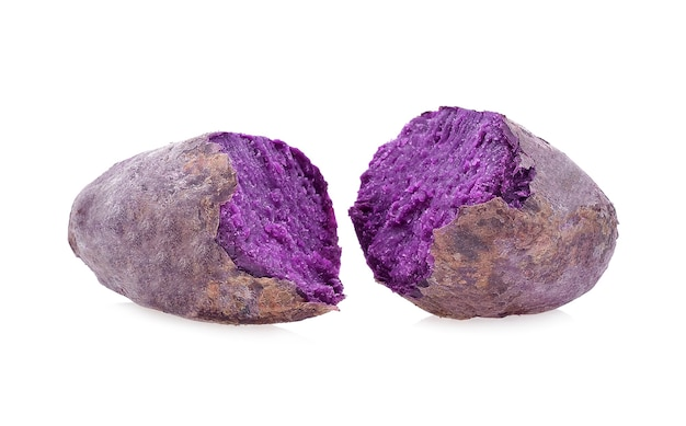 白地に紫芋