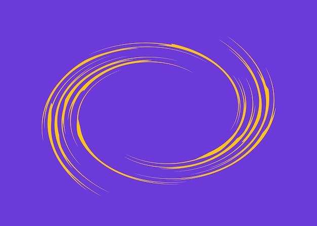 노란색 나선형 나선형이 있는 텍스트에 대한 보라색 텍스트 상자입니다. 장식 및 텍스트 디자인, 접시를 위한 원형 패턴.