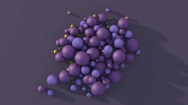 紫色のテクスチャと金属のボール
