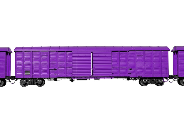 Purple wagon isolated on a white background. freight transport. high quality photo