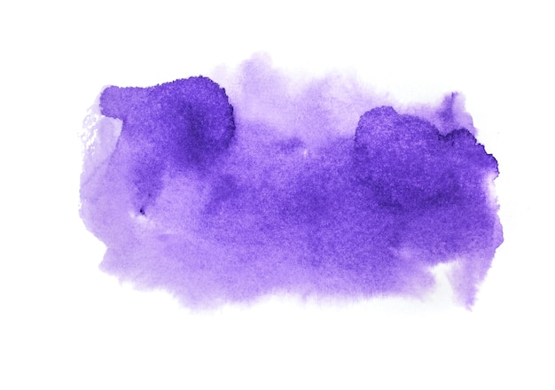 紫の水彩画の背景。アートハンドペイント