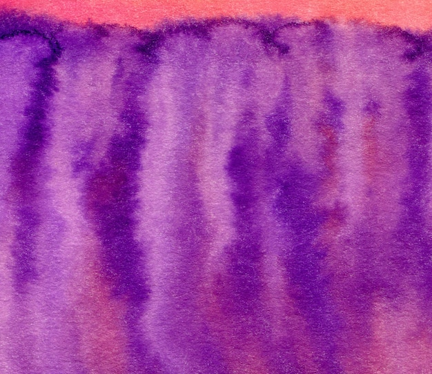 Purple watercolor hand painted background. abstract bright background