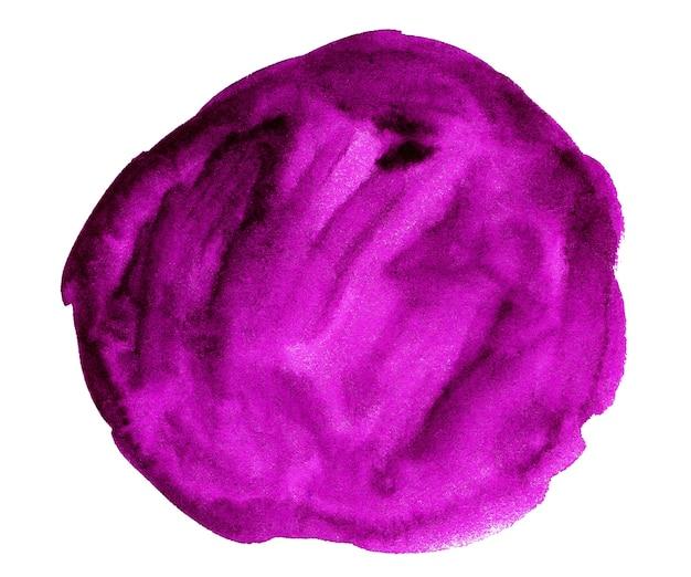 白で隔離される紫色の水彩画の形