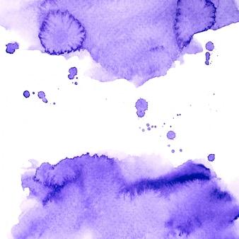 Purple watercolor splash on white background