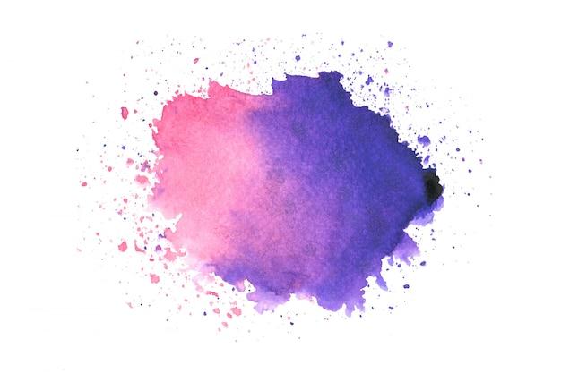 Purple watercolor stain paint stroke background