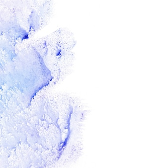 Purple watercolor on white background