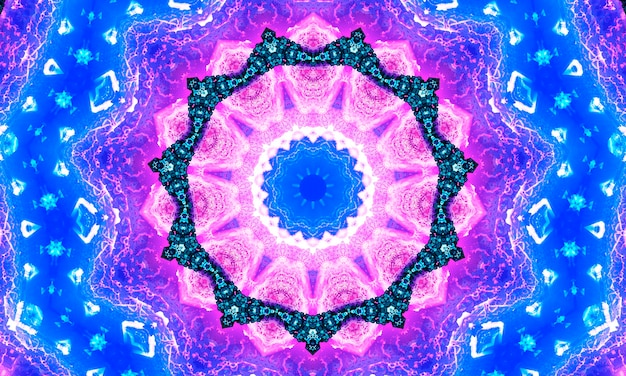Фиолетовый белый и индиго звездный калейдоскоп обои