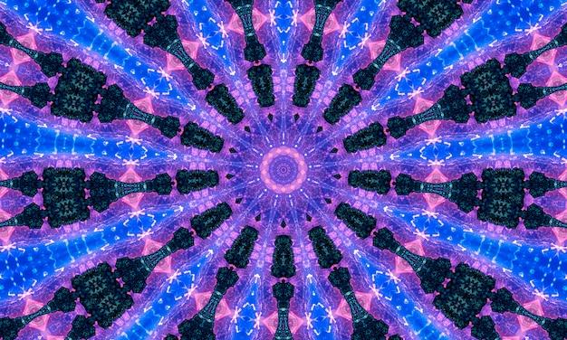 Purple white and indigo star kaleidoscope wallpaper.