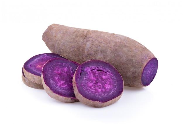 Purple yams isolated