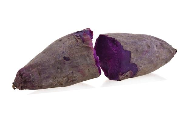 孤立した紫色の山芋