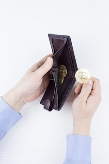 Purse with bitcoin