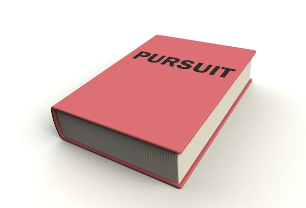 Pursuit book on white background