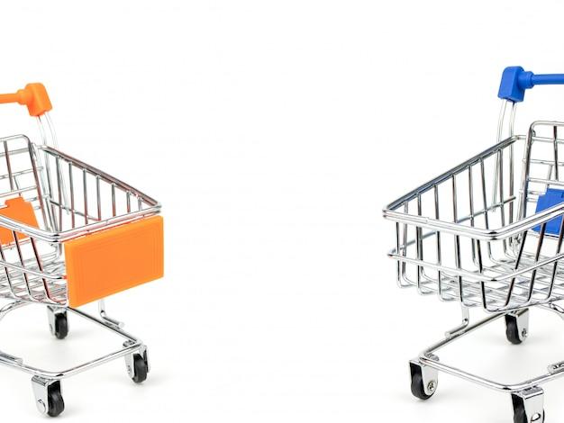 Push cart isolated on white