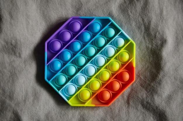 プッシュポップバブル感覚そわそわおもちゃ八角形