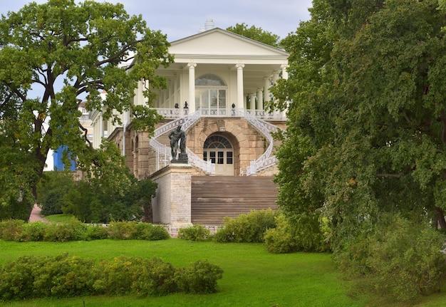 プーシキンサンクトペテルブルクロシア09032020カメロノヴァギャラリーの階段ヘラクレスの彫刻