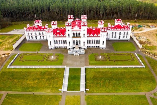 Puslovsky palace. autumn kossovsky castle in belarus.
