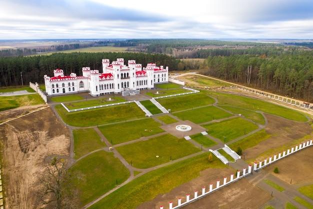 Puslovsky palace. autumn kossovsky castle in belarus