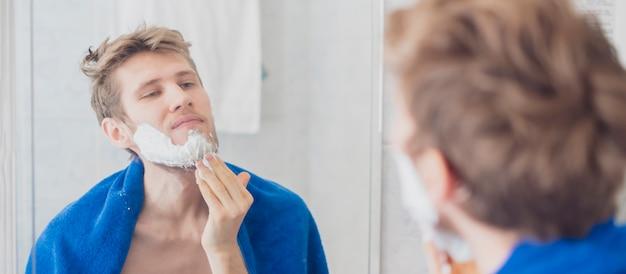 Put shaving foam in the bathroom