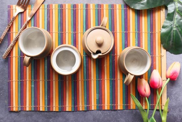 Ставим пустую чашку чая на стол
