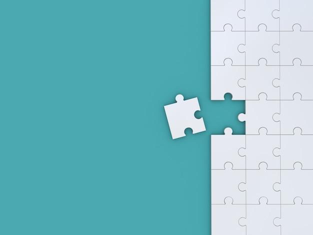 青のパズル。 3dイラスト