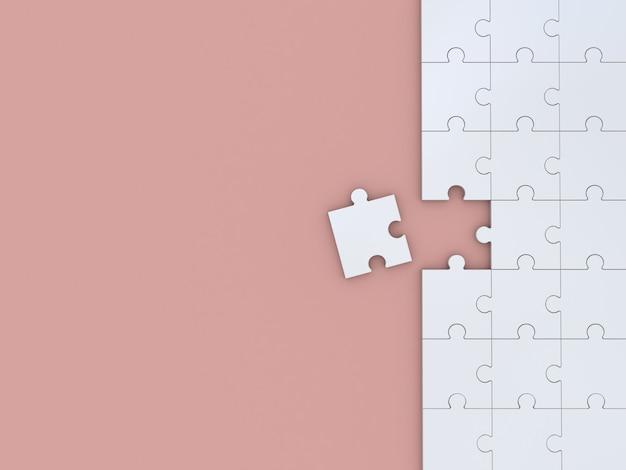 色のパズル。 3dイラスト