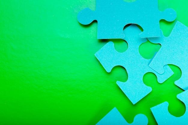 Puzzle pieces with empty copyspace