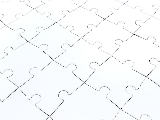 Puzzle on white. 3d illustration