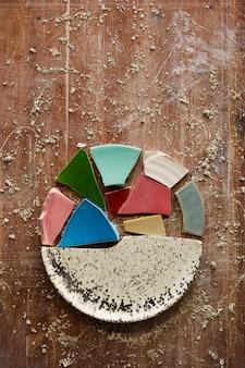Puzzles of ceramic plate