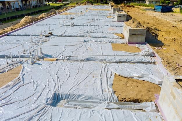 새 가정을 위한 지하 배수 시스템 건설을 위한 pvc 파이프