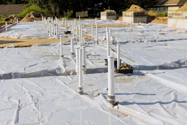 Пвх трубопровод с канализацией под строительство сантехнические трубы в земле