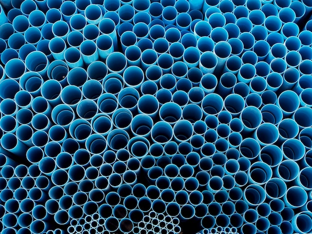 Pvc pipes blue colors background and textured