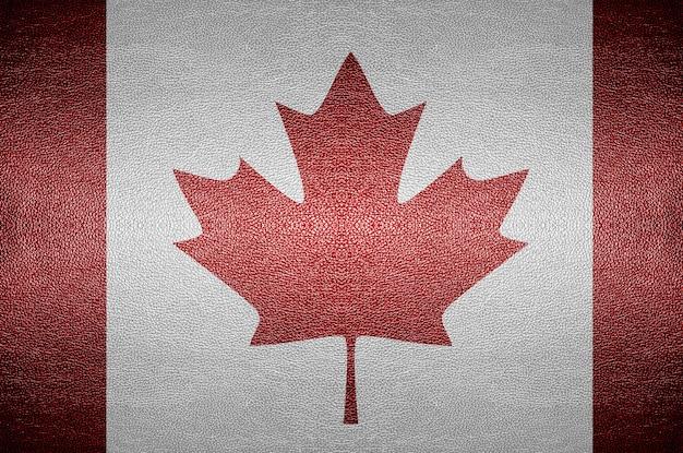 クローズアップスクリーンの背景のためのpvcレザーのカナダの旗のコンセプト