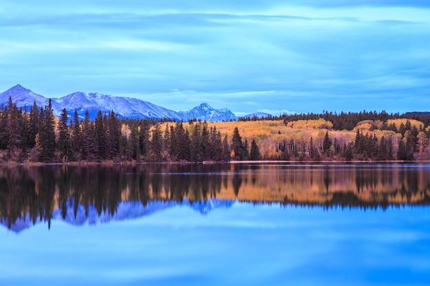 Pyramid lake jasper national park alberta canada