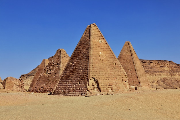 Pyramids of the ancient world in sudan