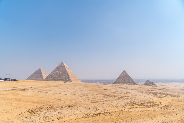 Pyramids of giza, the oldest funerary monument in the world, cairo, egypt