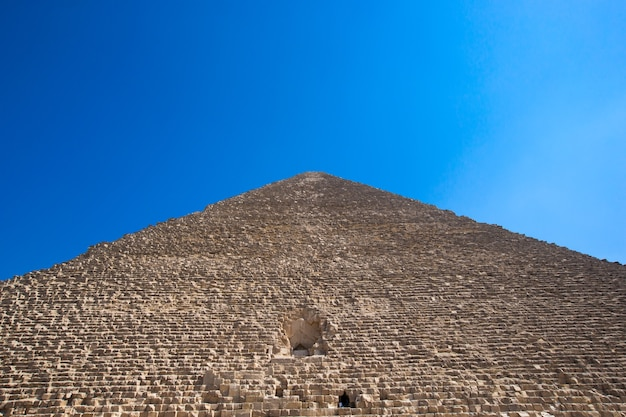 Pyramids with a beautiful sky of giza in cairo, egypt.