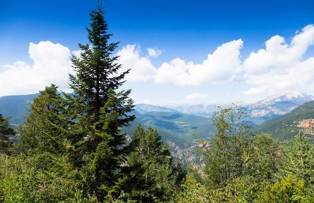 Montagne dei pirenei dall'alto
