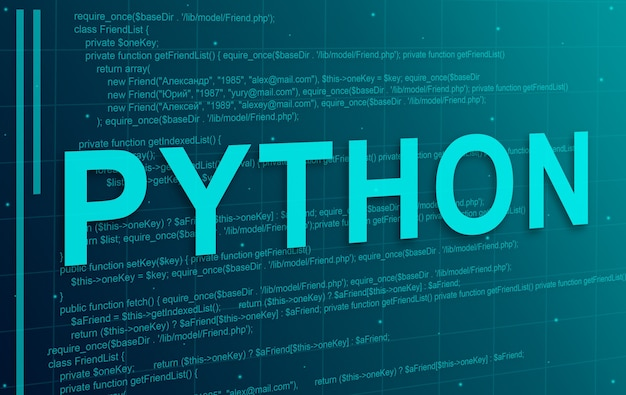 Программный код python абстрактный фон технологии