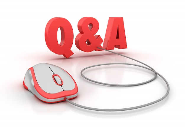 Q&a 3d word with computer mouse
