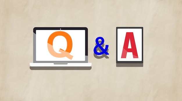 Q&a questions and answers response solution concept