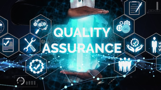 Qa quality assurance and quality control conceptual Premium Photo