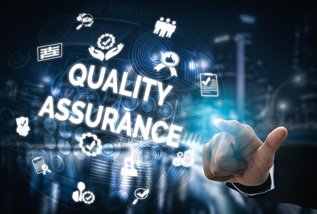 Qa品質保証および品質管理コンセプト。