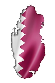 Qatar flag map