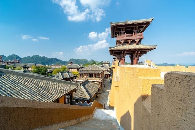 중국 구이저우의 진나라 고대 도시 공원.