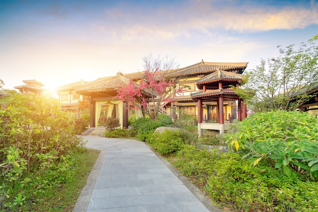 중국 구이저우에 있는 진나라 고대 도시 공원.
