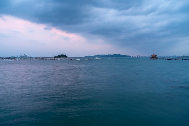 青島市の風景の海岸線