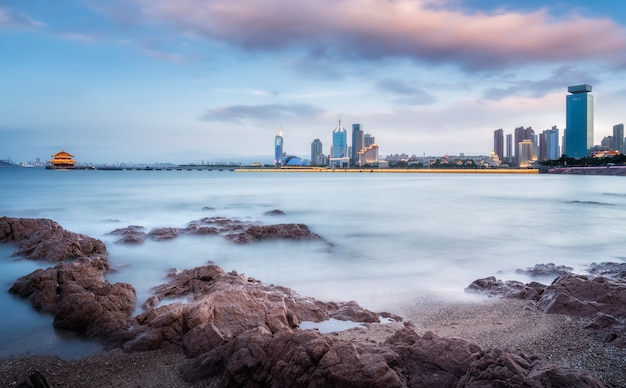 Qingdao's beautiful coastline and architectural landscape